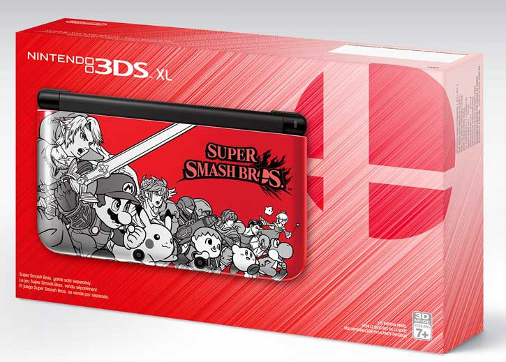Super Smash Bros. Edition Nintendo 3DS XL (Red) box