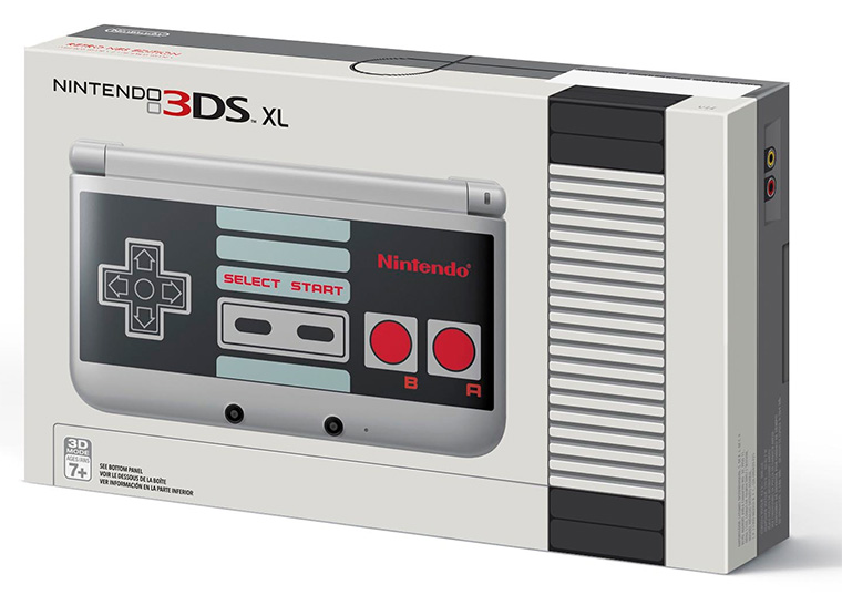 NES Edition Nintendo 3DS XL box