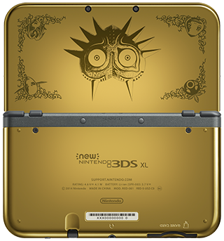New Nintendo 3DS XL system - The Legend of Zelda: Majora's Mask 3D version