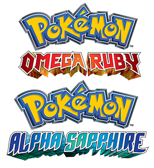 Pokémon Omega Ruby and Pokémon Alpha Sapphire Logo Art