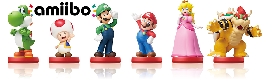 line of amiibo featuring classic characters from the Super Mario series