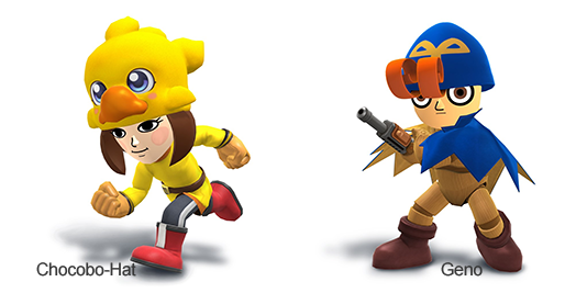 new Chocobo hat for Mii Fighters and Geno from Super Mario RPG: Legend of the Seven Stars