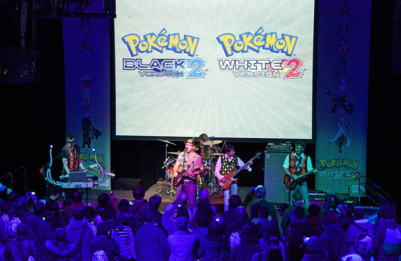 Photos From Pokémon Black 2/White 2 Launch Event at New York Comic Con, Oct. 13, 2012 live performance by rock band I Fight Dragons