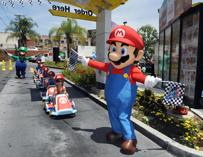 Mario at McDonald's to Kick Off The Mario Kart 8 Happy Meal Program.