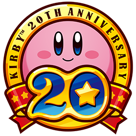 20th anniversary of the cute-but-powerful Kirby - logo