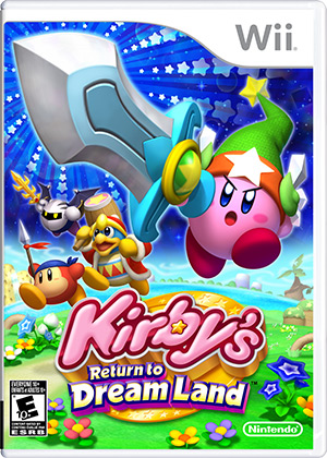 Kirby's Return to Dream Land for Wii Box Art