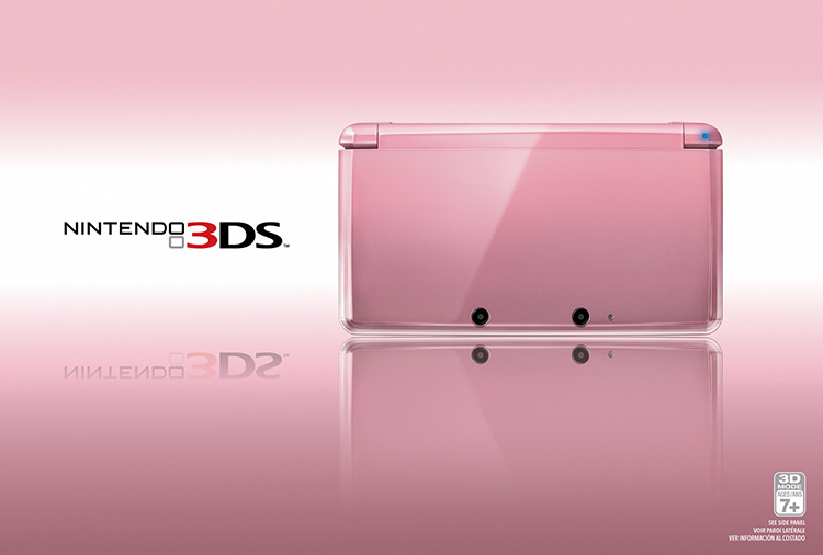 Pearl Pink edition of the Nintendo 3DS™ hand-held system