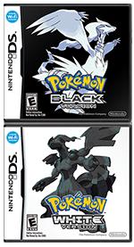 Pokémon™ Black Version and Pokémon White Version games for the Nintendo DS™