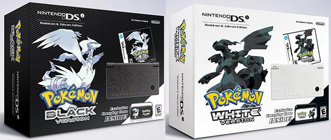 Pokémon Black Version and Pokémon White Version Limited-Edition Etched Nintendo DSi Bundles