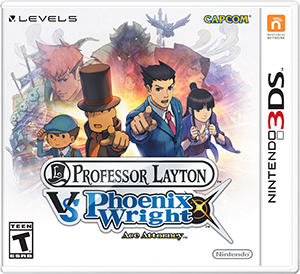 Professor Layton vs. Phoenix Wright: Ace Attorney game box art