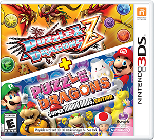 Puzzle & Dragons Z + Puzzle & Dragons Super Mario Bros. Edition Box Art