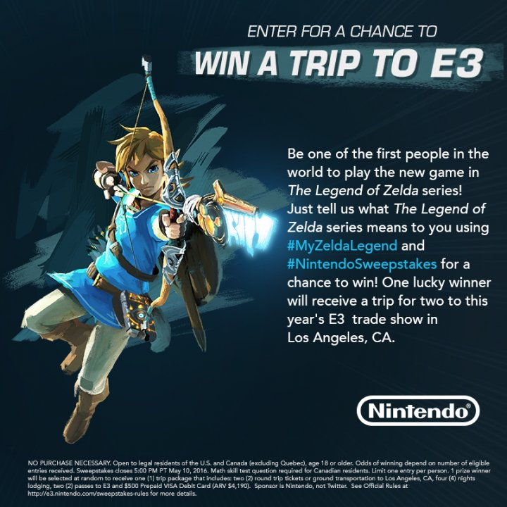 Legend of Zelda for Wii U will be Playable at E3