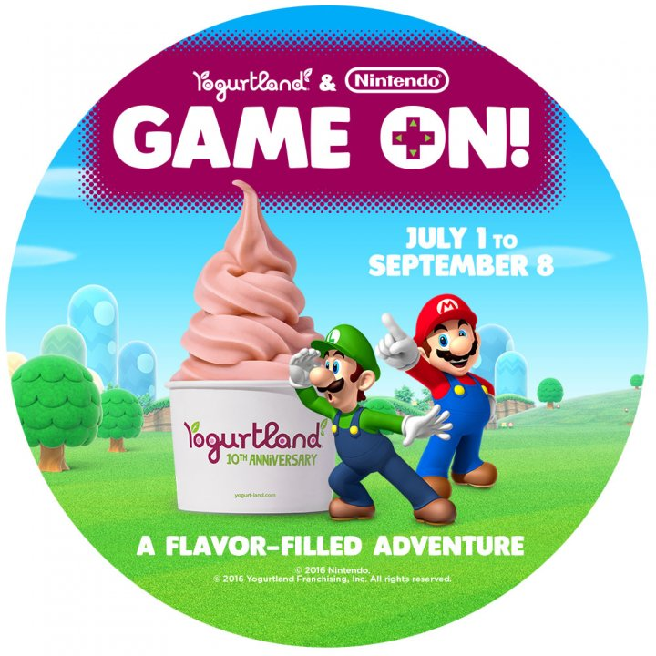 """Game On!"" with Nintendo Treats at Yogurtland Stores"