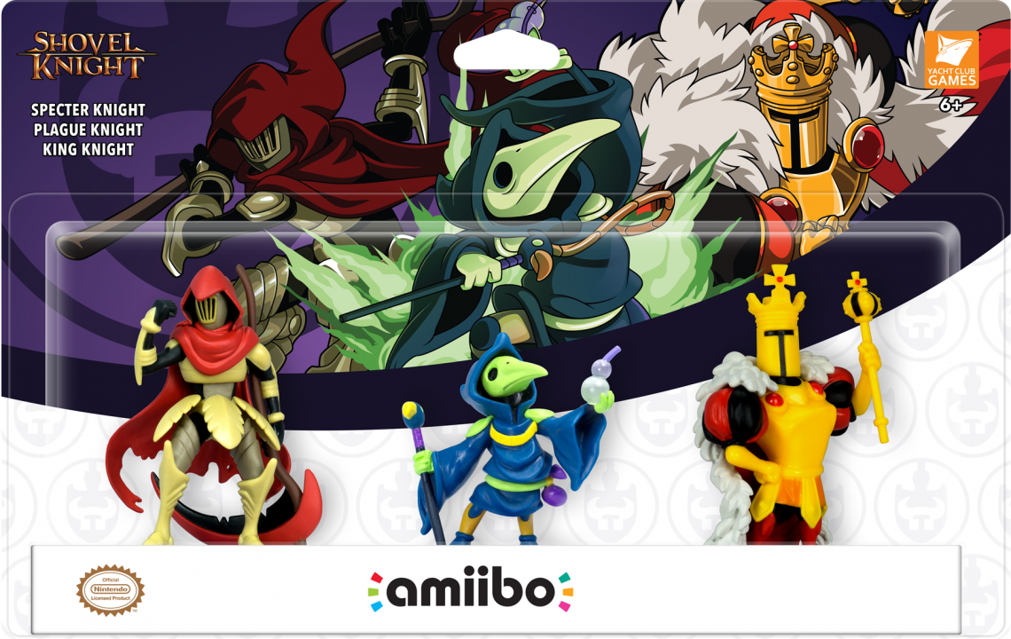 Three New Shovel Knight amiibo Announced