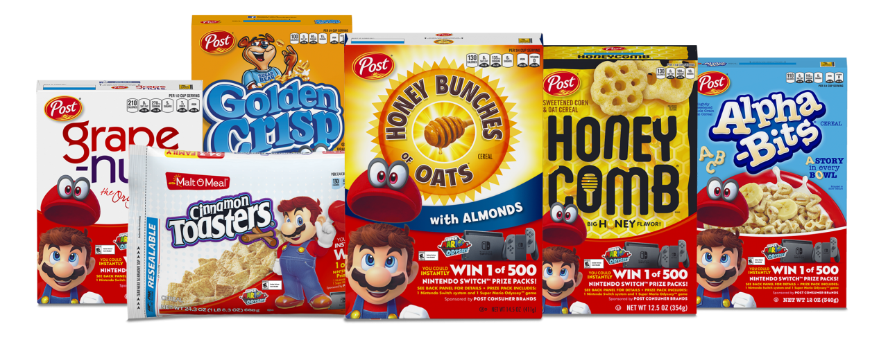 Nintendo and Post Team Up for a 'Super' Cereal Promotion