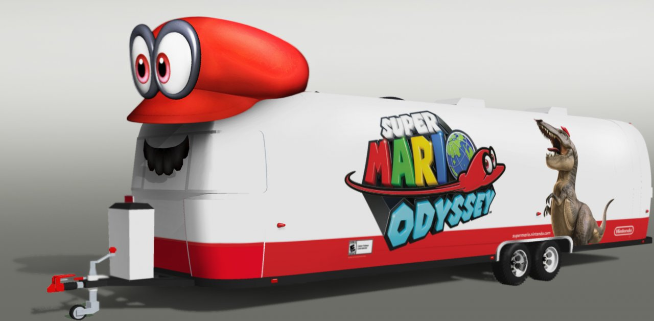 Mario Journeys Across the Country to Celebrate the Launch of Super Mario Odyssey