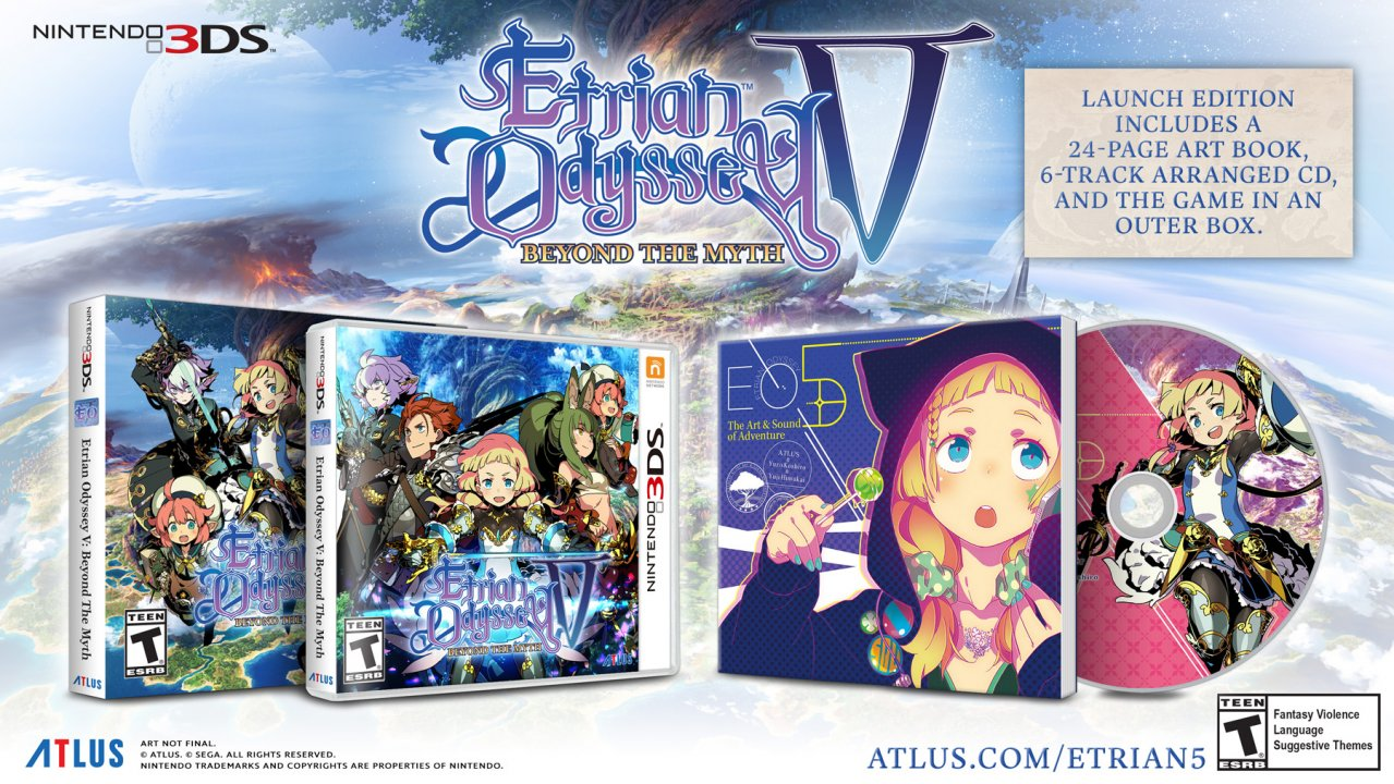 Adventure is Out There -- Etrian Odyssey V: Beyond the Myth is Out Now