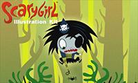 Scarygirl Illustration Kit