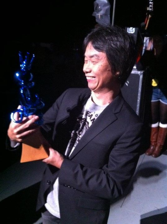 Mr. Miyamoto accepted the first-ever Hall of Fame award at the Spike TV Video Game Awards