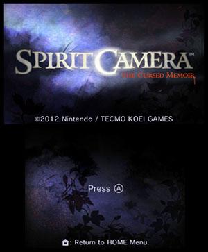 Spirit Camera™: The Cursed Memoir Title Screen