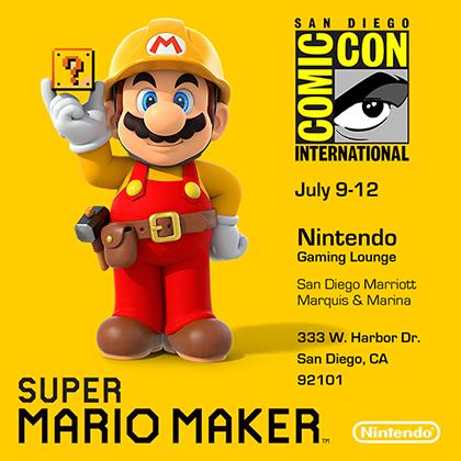Super Mario Maker at San Diego Comic-Con 2015 promo